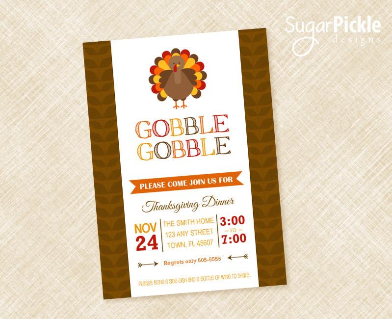 Thanksgiving Dinner Invitations  Thanksgiving Invitation Thanksgiving Invites Dinner Party