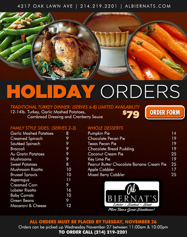 Thanksgiving Dinner Order  Thanksgiving Pre Order Dinner Savedwebhistoryorg