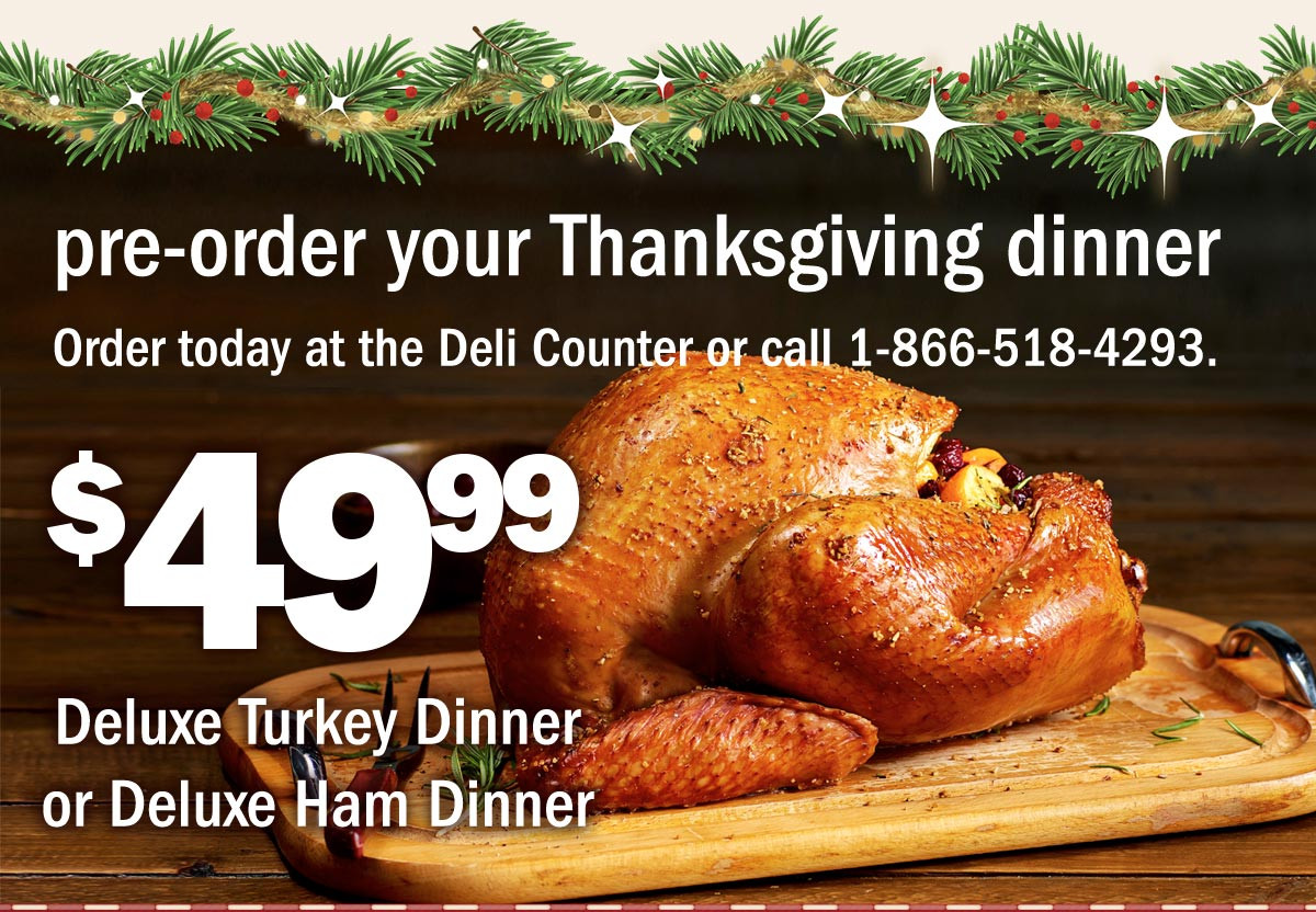 Thanksgiving Dinner Order  Meijer $49 99 Thanksgiving Dinner off Deli Trays