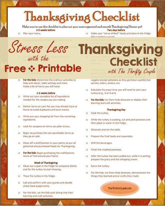 Thanksgiving Dinner Shopping List  Everything You Need this Thanksgiving