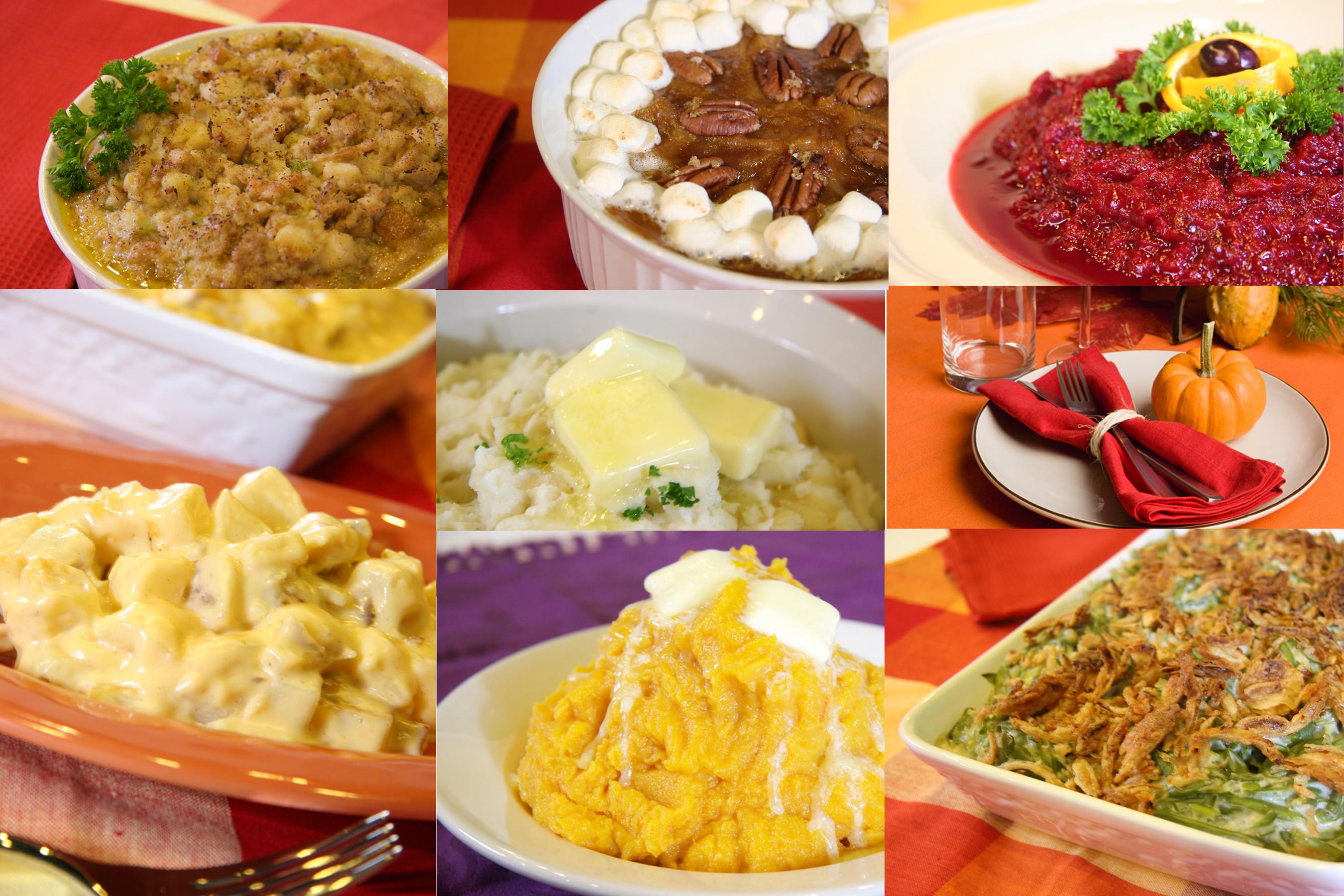 Thanksgiving Dinner Sides  Thanksgiving Menu