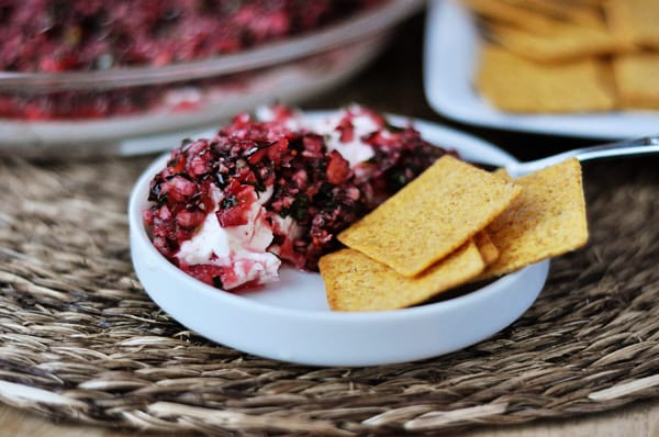 Thanksgiving Dips And Spreads  Cranberry Jalapeno Cream Cheese Dip Mel s Kitchen Cafe