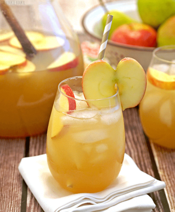 Thanksgiving Drinks Alcoholic  Apple Pie Punch The Cookie Rookie