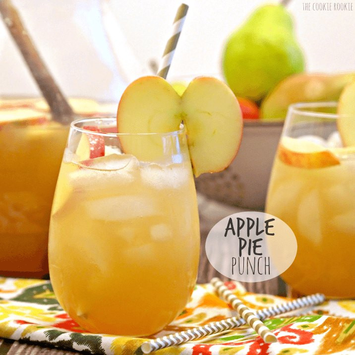 Thanksgiving Drinks Non Alcoholic  Apple Pie Punch The Cookie Rookie
