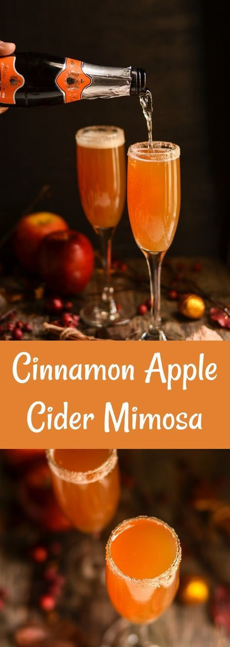 Thanksgiving Drinks Non Alcoholic  Cinnamon Apple Cider Mimosa Recipe
