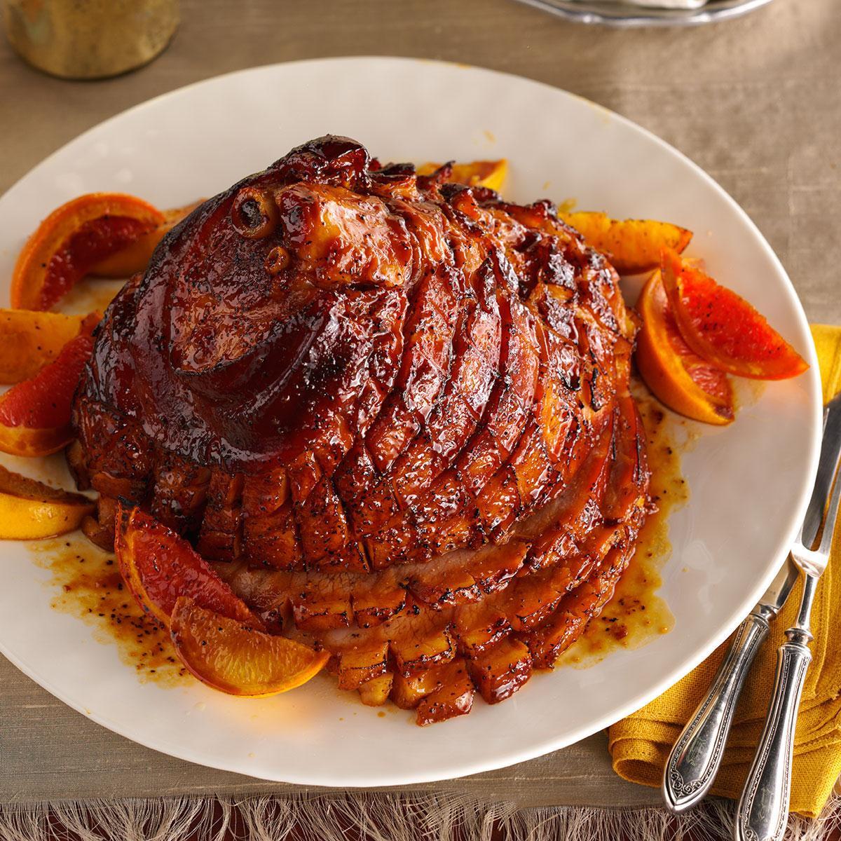 Thanksgiving Ham Glaze Recipes  Citrus Molasses Glazed Ham Recipe