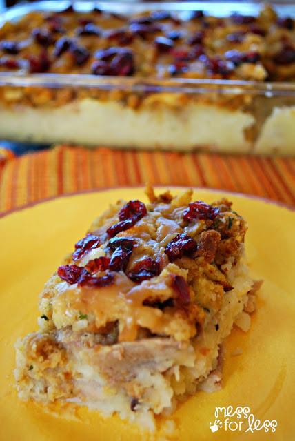 Thanksgiving Leftovers Casserole  Thanksgiving Dinner Casserole Mess for Less