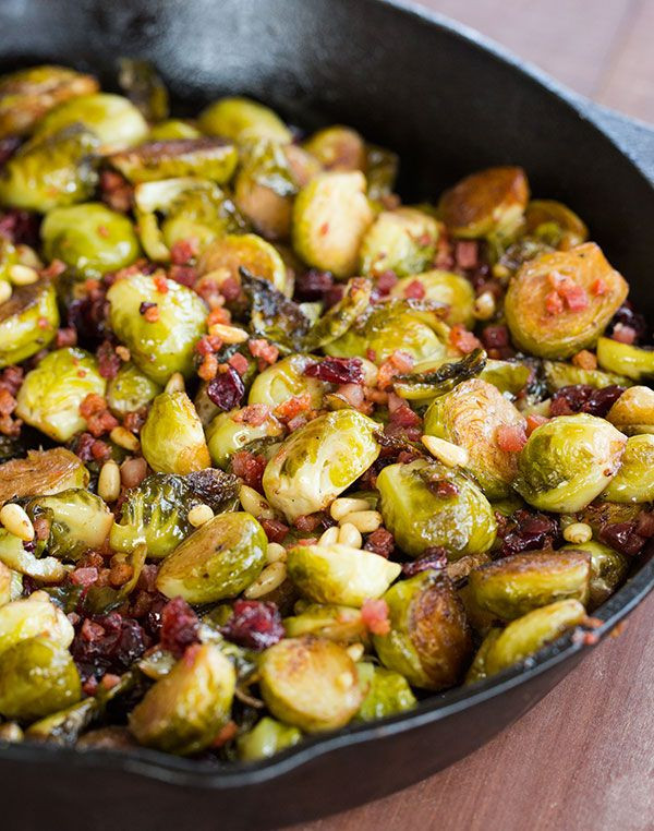 Thanksgiving Pasta Side Dishes  Brussels Sprouts with Pancetta Cranberries & Pine Nuts