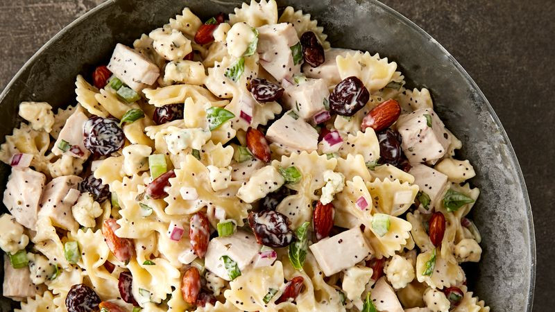 Thanksgiving Pasta Side Dishes  Turkey Cherry and Almond Pasta Salad Recipe Tablespoon