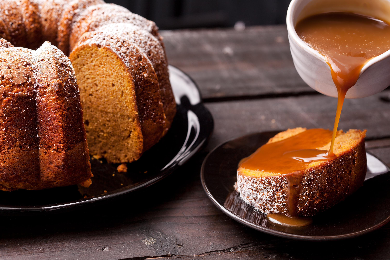 Thanksgiving Pumpkin Recipes  pumpkin spice bundt cake caramel sauce