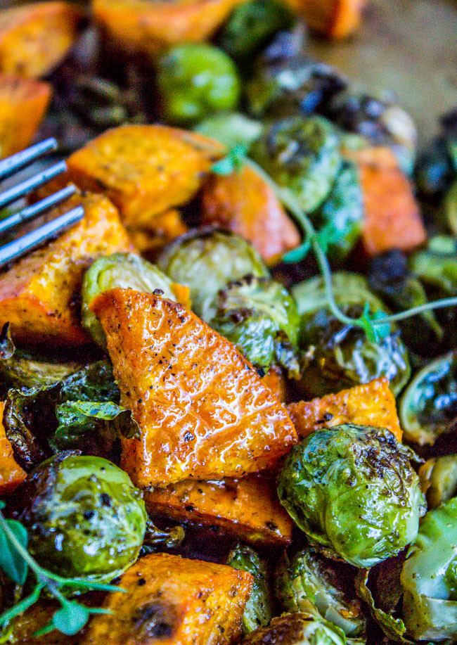 Thanksgiving Roasted Sweet Potatoes  15 Thanksgiving Recipes Make Ahead My Life and Kids