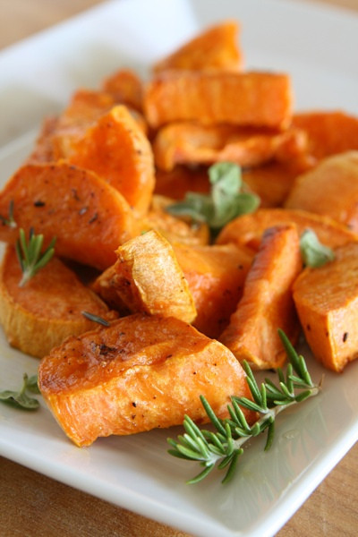 Thanksgiving Roasted Sweet Potatoes  Guilt Free Thanksgiving Dishes