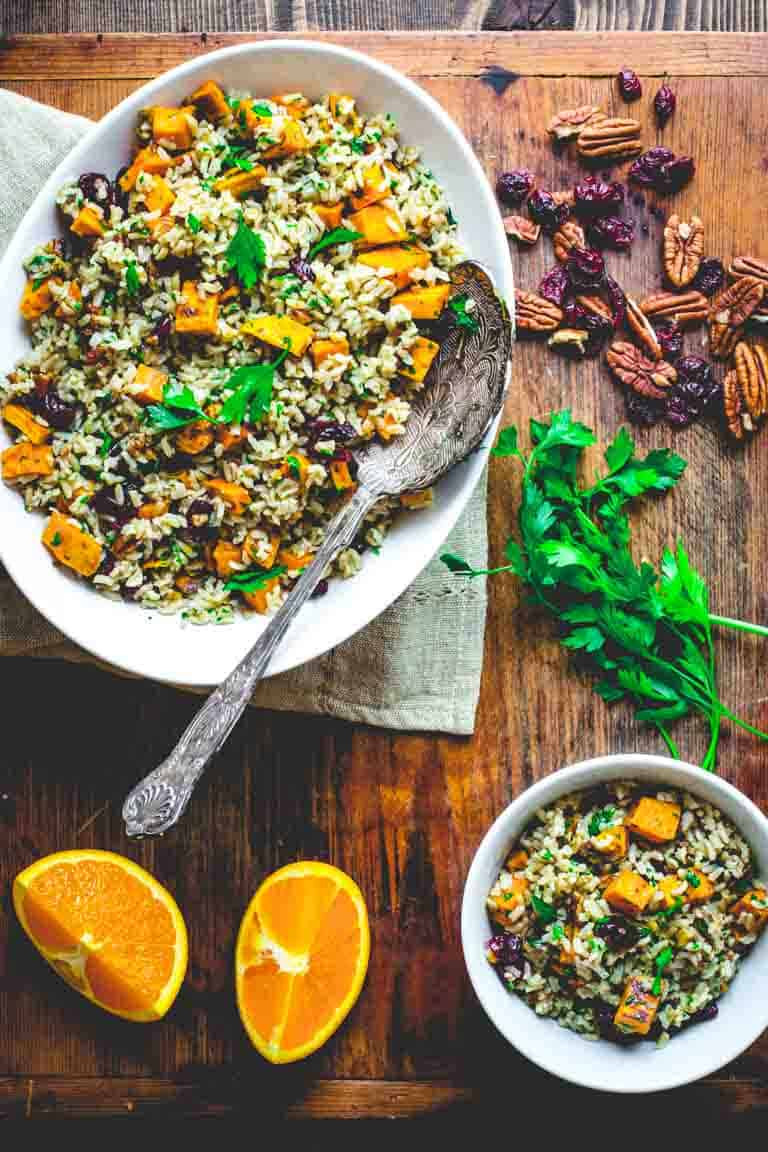 Thanksgiving Sweet Potatoes Recipe  brown rice and sweet potato salad Healthy Seasonal Recipes