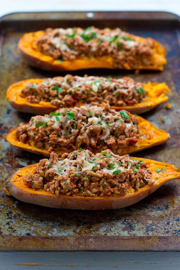 Thanksgiving Sweet Potatoes Recipe  Turkey Taco Stuffed Sweet Potatoes Recipe 20 Minute Meal
