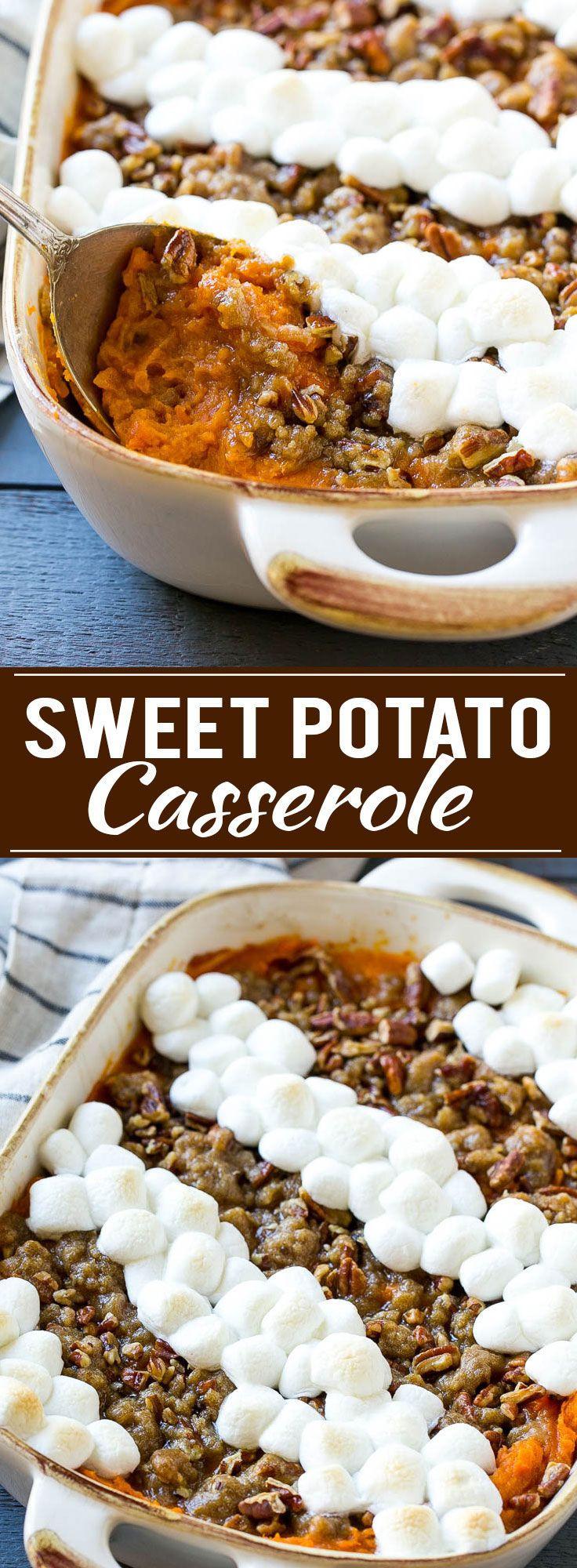 Thanksgiving Sweet Potatoes Recipe  Sweet Potato Casserole with Marshmallows