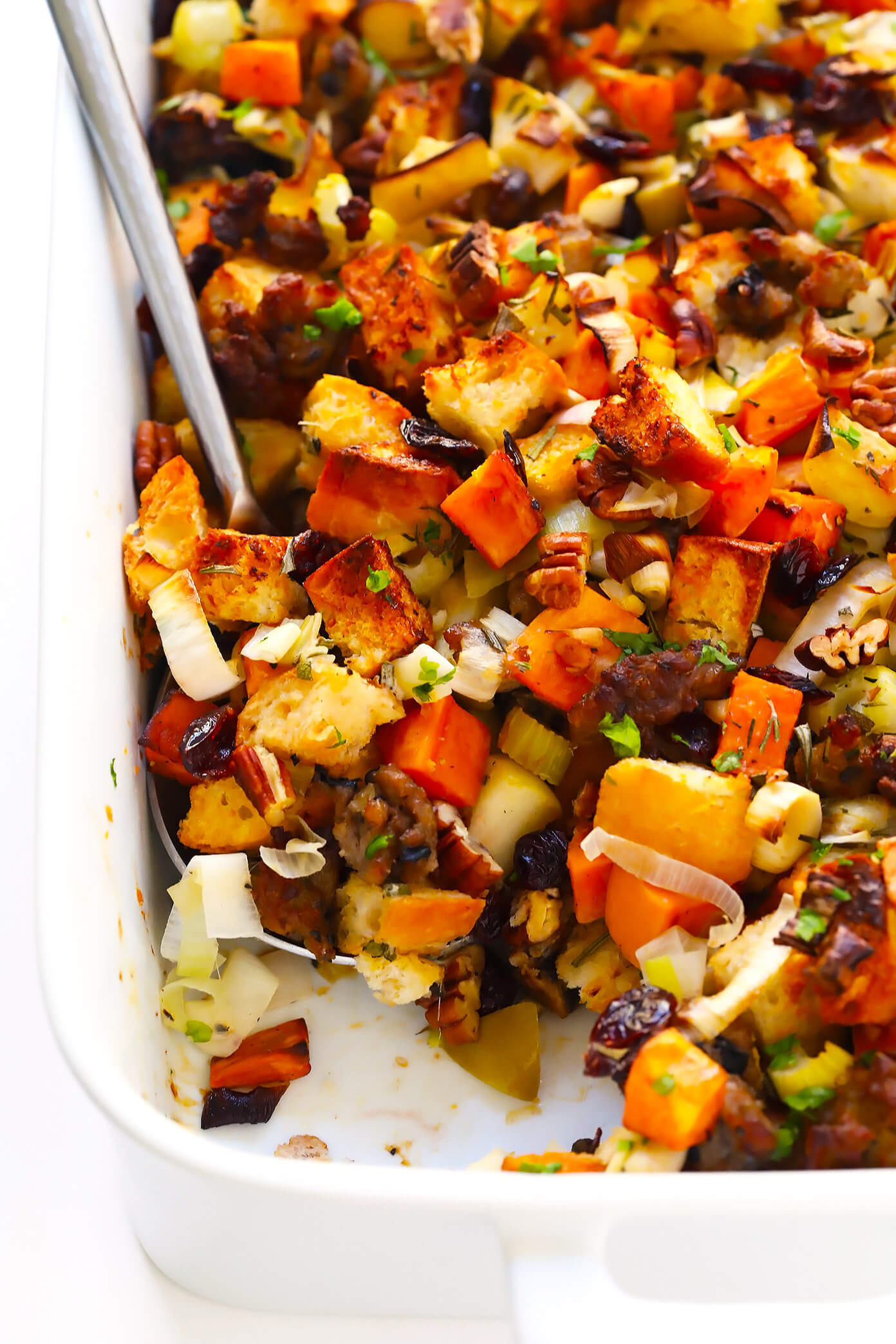 Thanksgiving Sweet Potatoes Recipe  The BEST Sausage and Sweet Potato Thanksgiving Stuffing