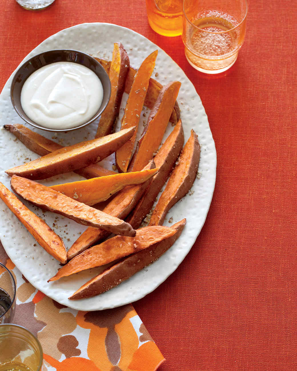 Thanksgiving Sweet Potatoes Recipe  Sweet Potato Fries with Brown Butter Marshmallow Sauce