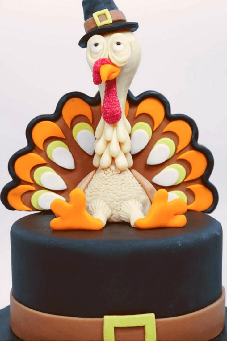 Thanksgiving Turkey Cake  Thanksgiving Cakes Recipe and Video Tutorials