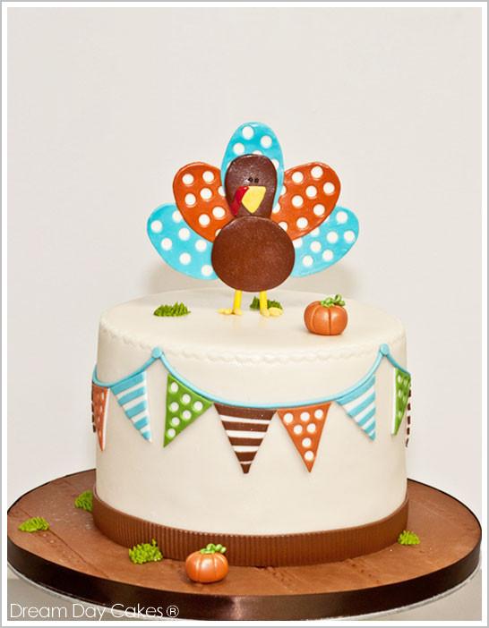 Thanksgiving Turkey Cake  Gobble Gobble Turkey Cake