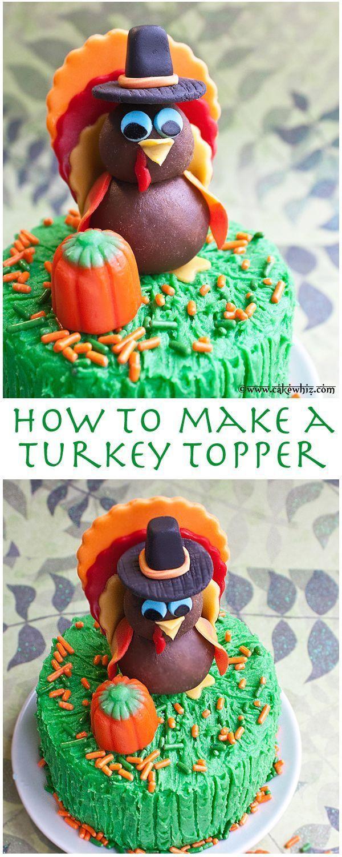 Thanksgiving Turkey Cake  Pin by Raquel Organized Island Simple Recipes