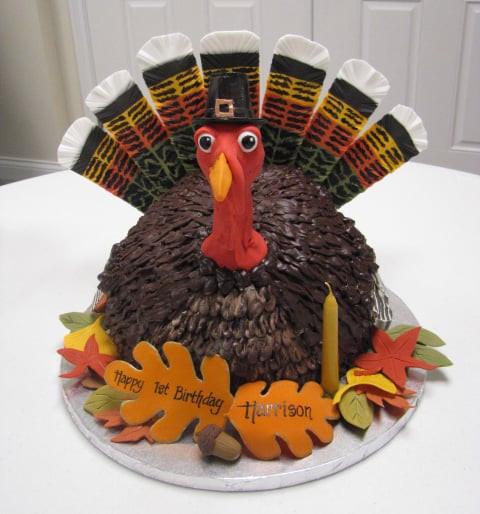 Thanksgiving Turkey Cake  Elaborate Turkey Cake