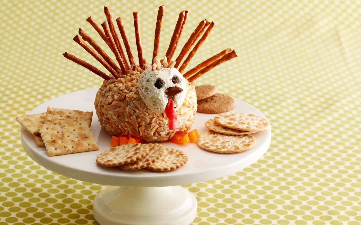 Thanksgiving Turkey Cheese Ball  Play Ball Herbed Turkey Cheese Ball