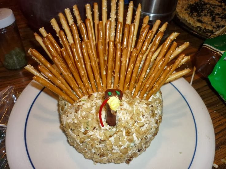 Thanksgiving Turkey Cheese Ball  RE invented style RE ceiving Guests Fall Table