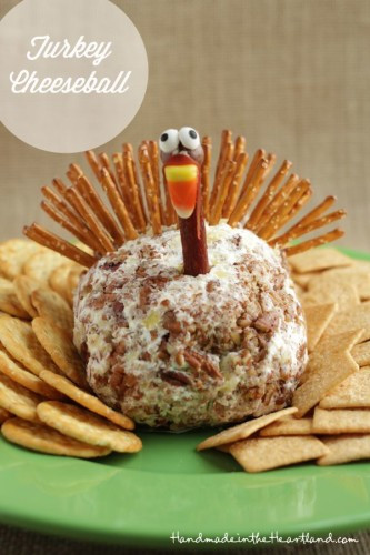 Thanksgiving Turkey Cheese Ball  Yummy Cute and Fun Thanksgiving Day Ideas