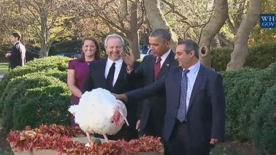 Thanksgiving Turkey Pardon  Obama pardons TOTUS — the Turkey of the United States