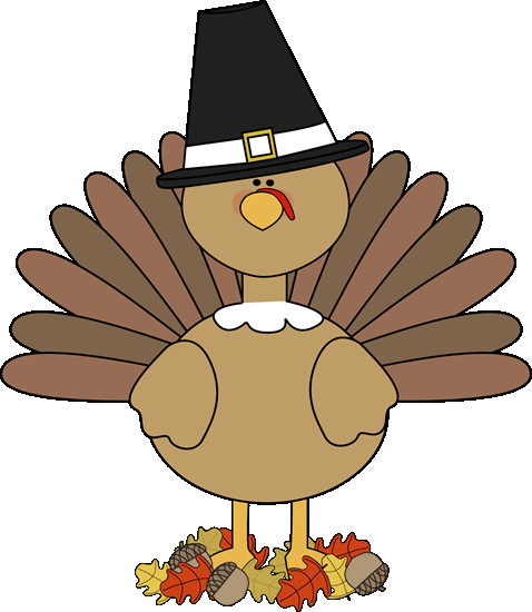 Thanksgiving Turkey Pictures Clip Art  Turkey Pilgrim and Autumn Leaves Clip Art Turkey Pilgrim