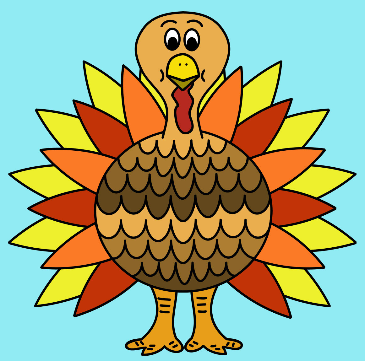Thanksgiving Turkey Pictures Free  Free Turkey Clip Art Clipartix