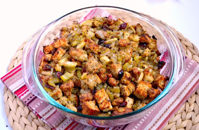 Thanksgiving Turkey Recipe With Stuffing  K&K Test Kitchen Turkey Sausage Apple and Cranberry