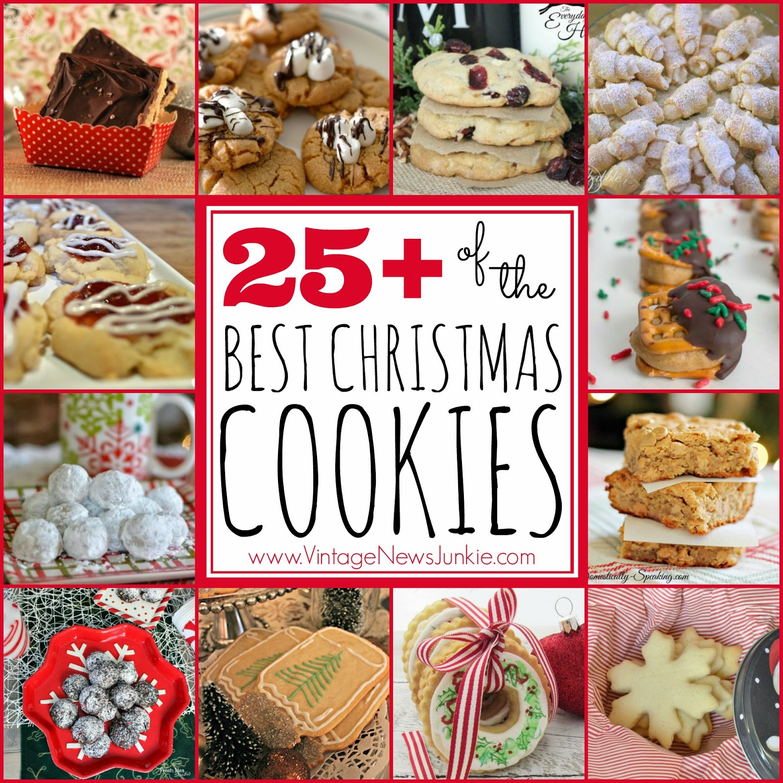 The Best Christmas Cookies Recipes  25 OF THE BEST CHRISTMAS COOKIE RECIPES Handy DIY