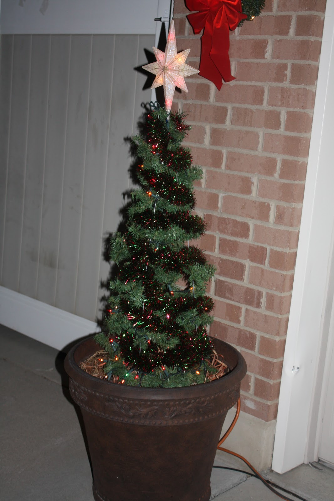 Tomato Cage Christmas Tree  Embellish the Details Christmas Tree Topiaries made out