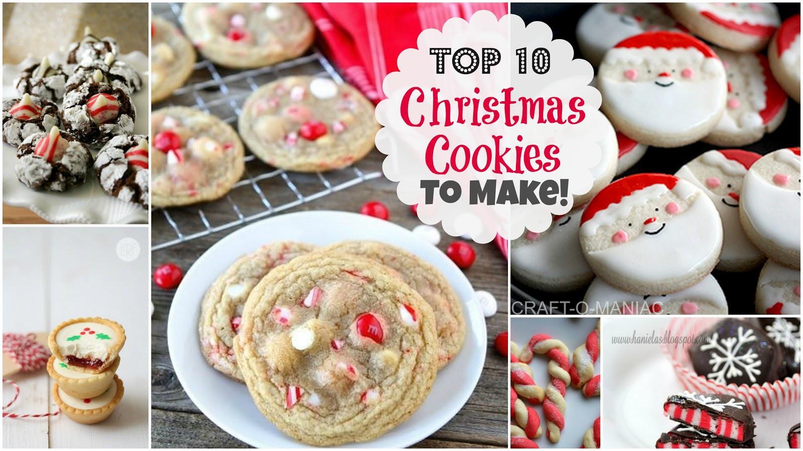 Top 10 Christmas Cookies  Top 10 Christmas Cookies to Make Craft O Maniac
