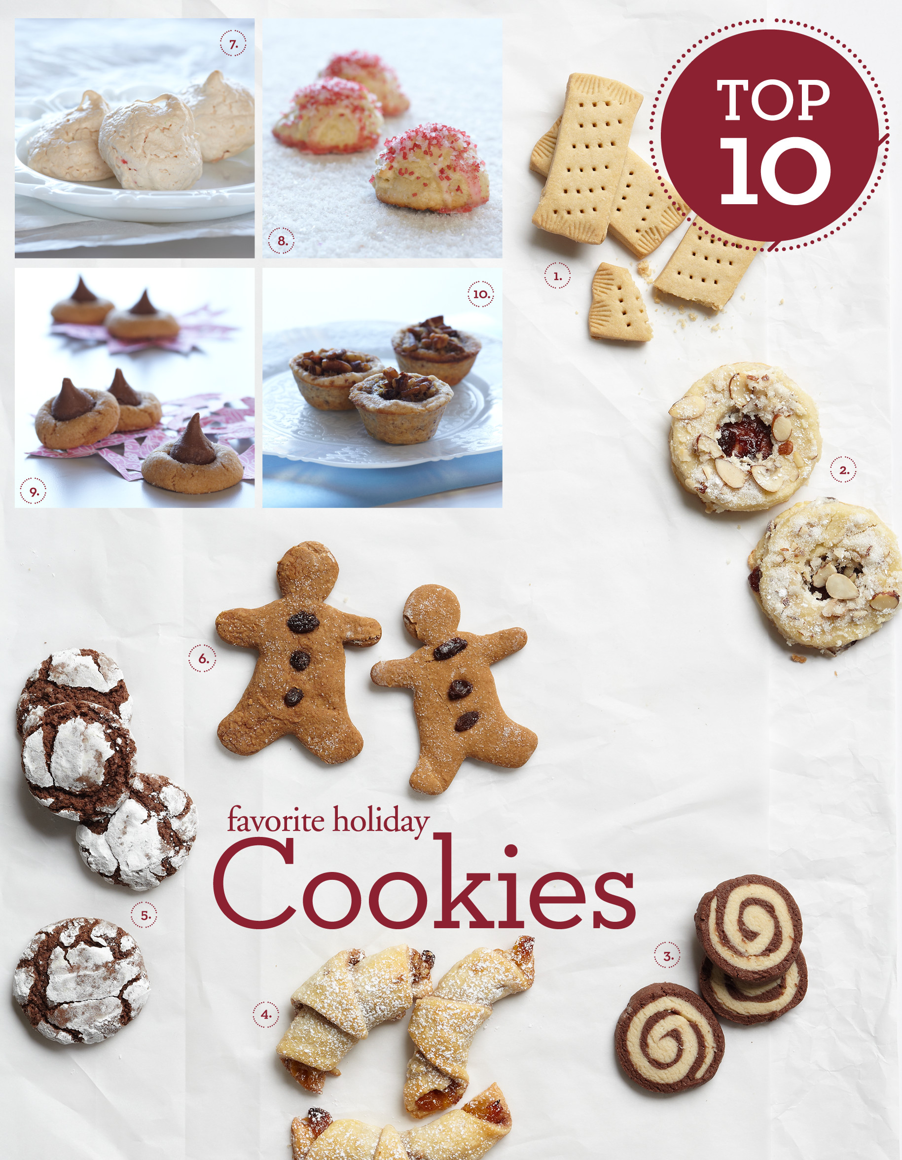 Top 10 Christmas Cookies  Top 10 Favorite Holiday Cookies by Oak Express