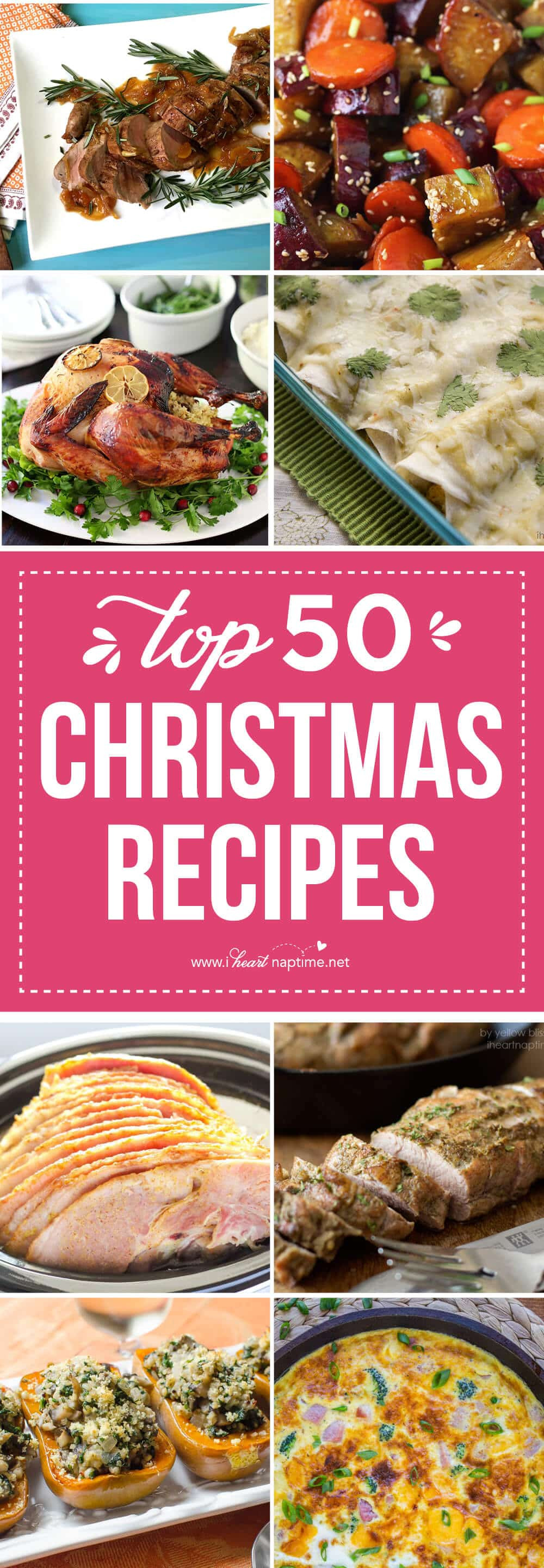 Traditional Christmas Dinner Side Dishes  Top 50 Christmas Dinner Recipes I Heart Nap Time