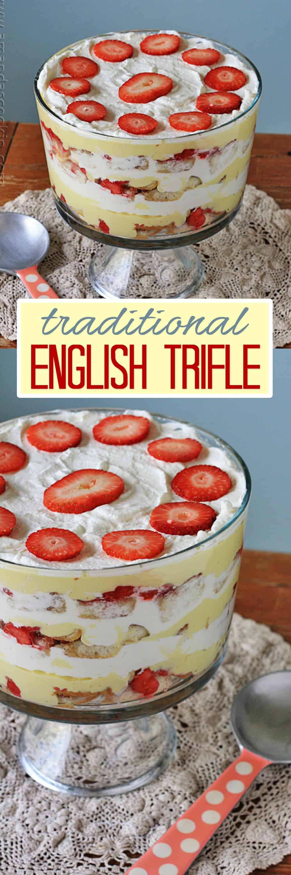 Traditional English Christmas Desserts  English Trifle Our Family Tradition Amanda s Cookin