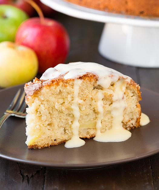Traditional Irish Christmas Desserts  Irish Apple Cake With Custard Sauce