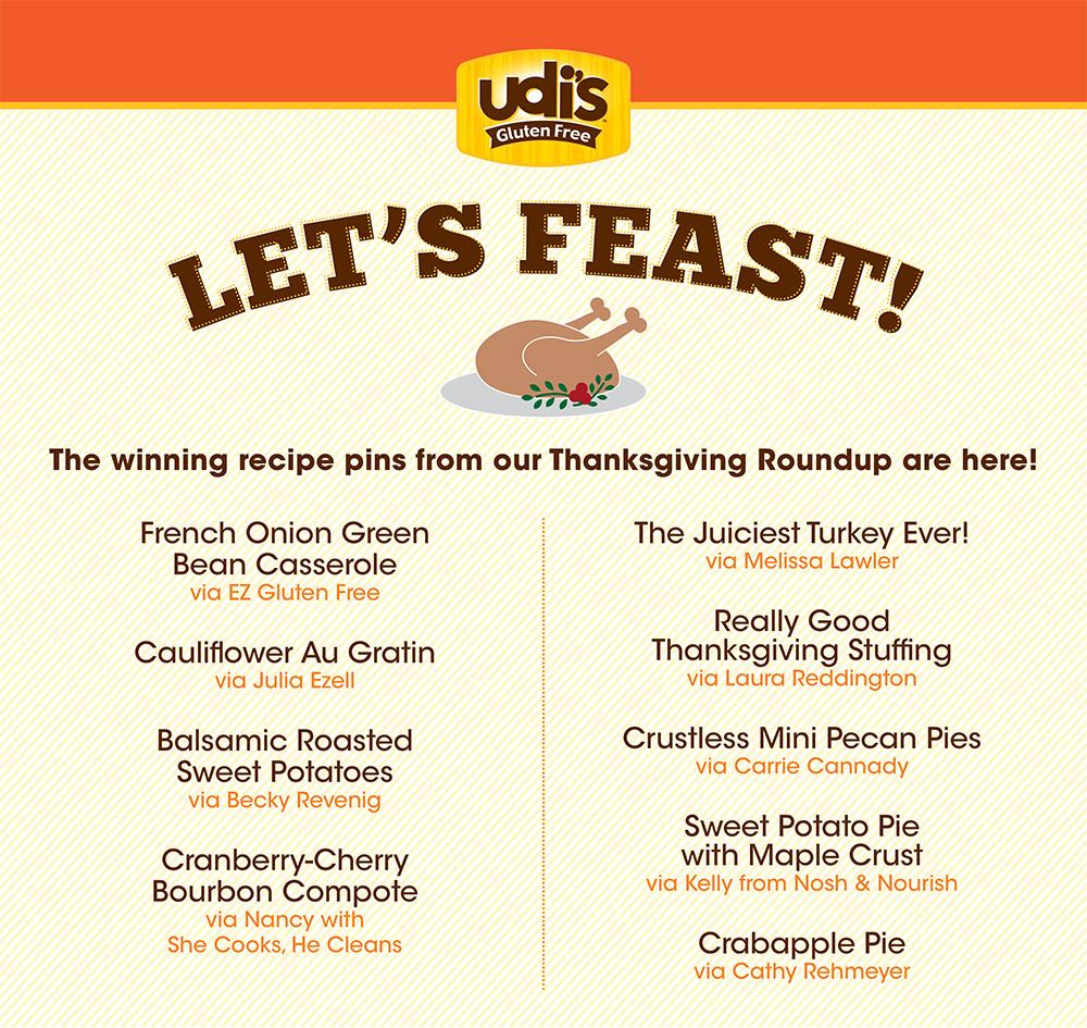 Traditional Thanksgiving Dinner Menu List  Let s Feast The Udi s Gluten Free Thanksgiving Menu