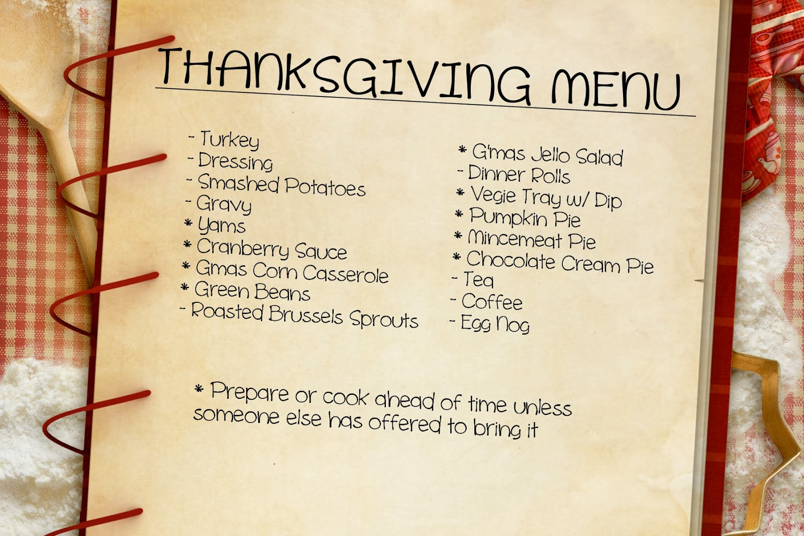 Traditional Thanksgiving Dinner Menu List  iSavor the Weekend Thanksgiving Meal Planning Made Easy