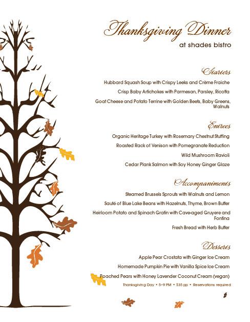 Traditional Thanksgiving Dinner Menu List  Traditional Thanksgiving Menu