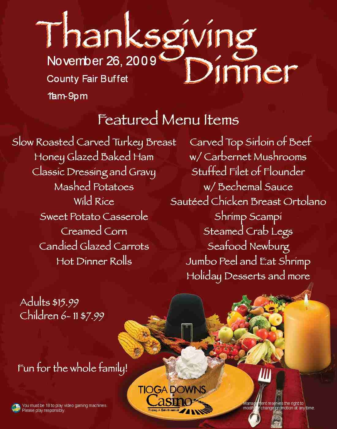 Traditional Thanksgiving Dinner Menu List  Typical Thanksgiving Menu Frompo 1