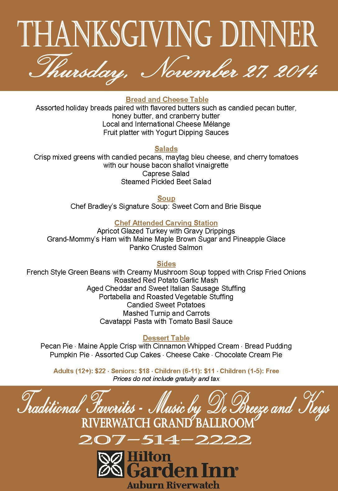 Traditional Thanksgiving Dinner Menu List  Top 28 Typical Thanksgiving Menu serving thanksgiving