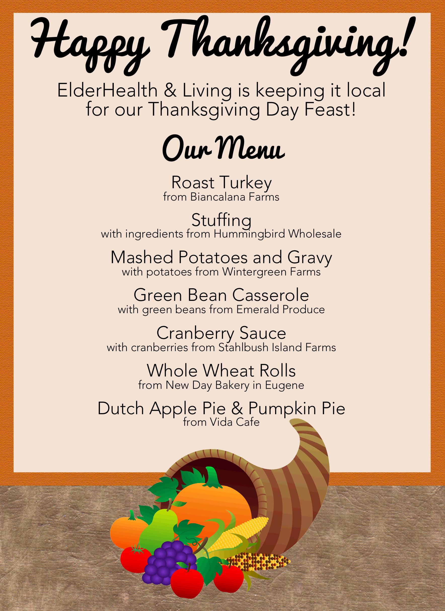 Traditional Thanksgiving Dinner Menu List  Menu Design Category Page 1 jemome