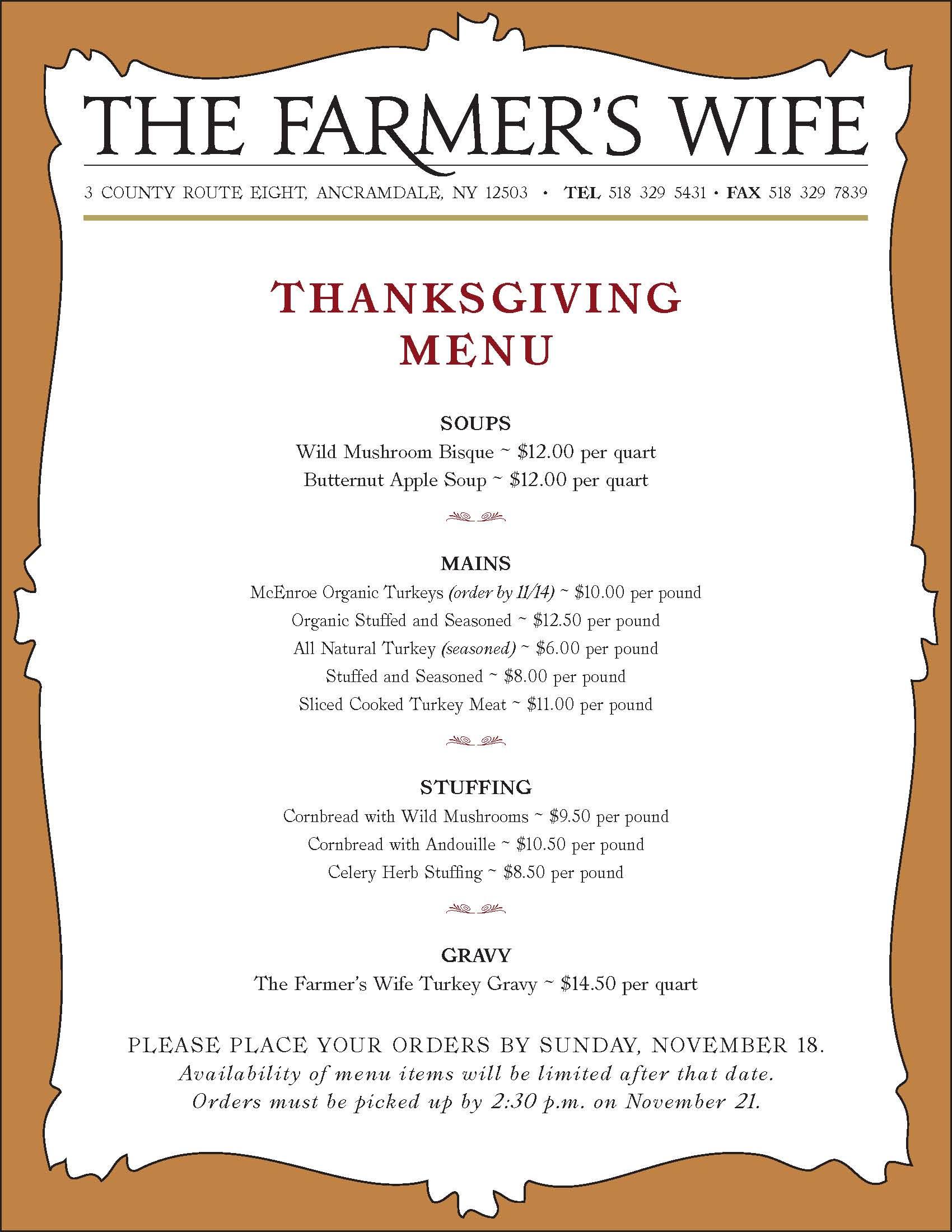 Traditional Thanksgiving Dinner Menu List  traditional soul food thanksgiving dinner menu