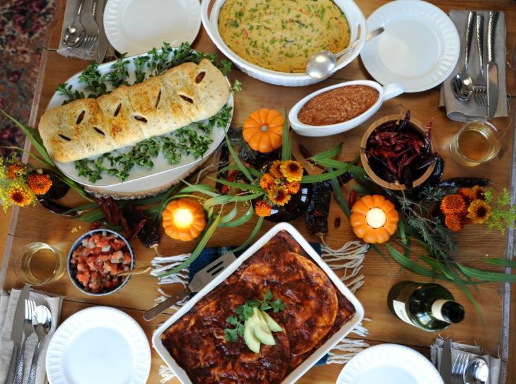 Turkey Alternatives For Thanksgiving  Thug Kitchen authors offer vegan Thanksgiving