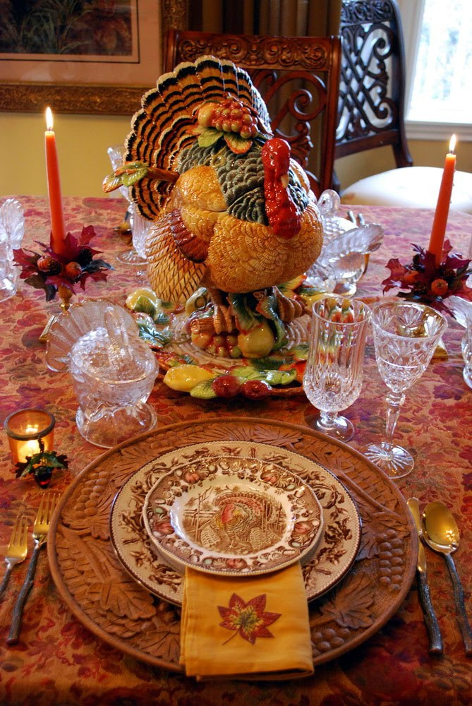 Turkey Decorations For Thanksgiving  Decorating for Autumn and a Thanksgiving Tablescape