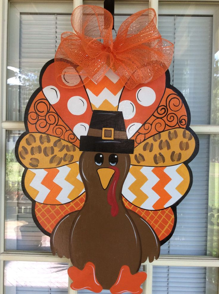 Turkey Decorations For Thanksgiving  1000 ideas about Fall Door Hangers on Pinterest