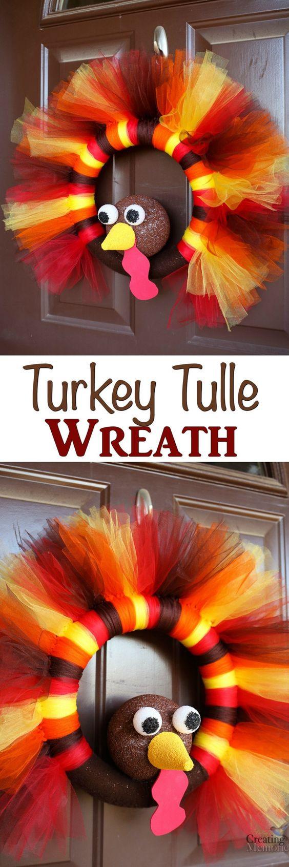 Turkey Decorations For Thanksgiving  30 Easy DIY Thanksgiving Door Decorations 2017